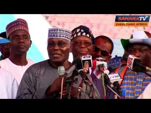 Watch Atiku's Speech Congratulating Gen. Mohammadu Buhari as APC Presidential Candidate