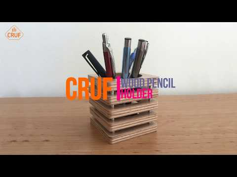 DIY Wood Pencil Holder (CNC Router)