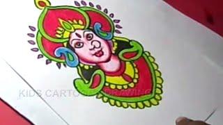 How to Draw Hindu Goddess Durga Drawing Step by Step