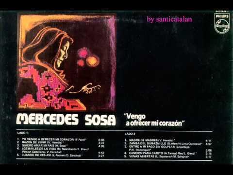 "Mercedes Sosa ""Vengo a ofrecer mi corazón"" (1985) disco completo full album"