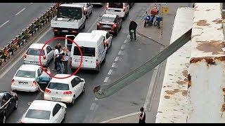 Kayseri'de yol ortasında sürücü kavgası