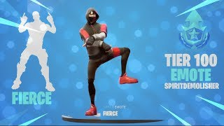 FORTNITE FIERCE EMOTE (TIER 100) (10+ SKINS!)