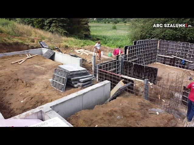Budowa ścian fundamentowych domu jednorodzinnego   ABC Szalunki #budowadomu #szalunki #abcszalunki
