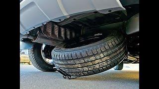 Renault Kaptur/Рено Каптур: как снять запаску и заменить колесо