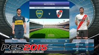 PES 2015 | Boca vs River: ¡El Superclásico! | PC Gameplay