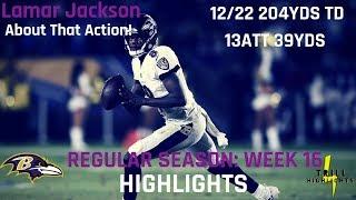Lamar Jackson Week 16 Highlights   Throwing Dots 12.22.2018