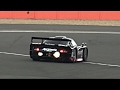 McLaren F1 GTR vs Porsche 911 GT1 at Silverstone, Huge FLAMES!