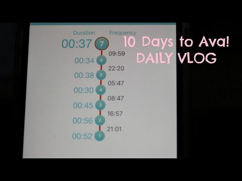 10 Days to Ava! | Counting Contractions | DAILY VLOG