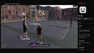 King Los 2k18 running with 99 sharps  PS4 Broadcast !!!
