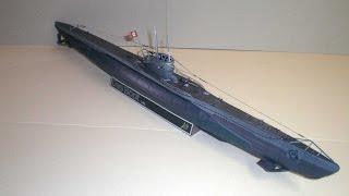 """U-Boot VIIC Modell von U96 aus dem Film """"Das Boot"""" Free Download Kartonmodell"""