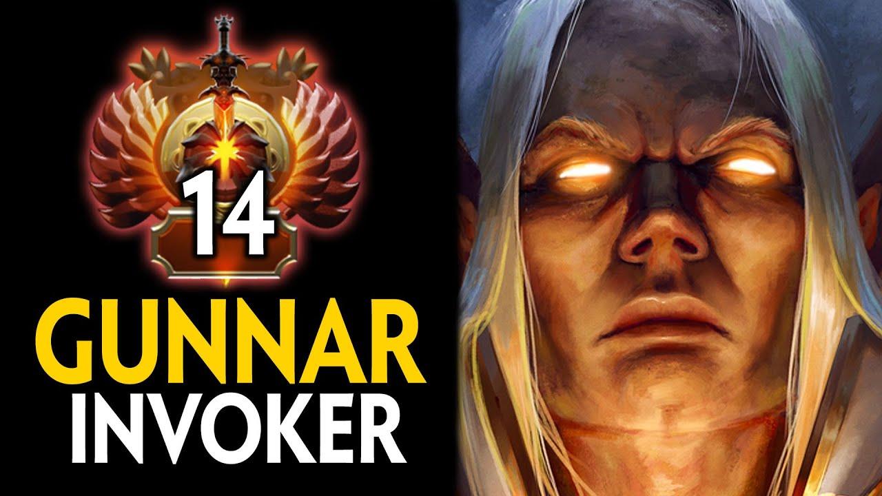 INTENSE 8800 MMR GAME!! RANK 14 GUNNAR INVOKER vs RANK 17 FACELESS VOID MID | Dota 2 Invoker