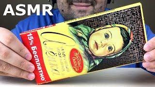 ASMR GIANT CHOCOLATE ALENKA   RUSSIAN CHOCOLATE (Crunchy & Sticky Eating Sounds) NO TALKING