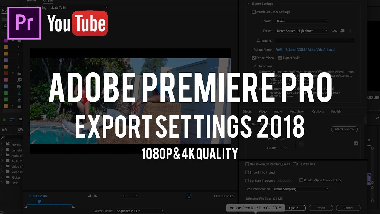 How To EXPORT in Premiere Pro for YOUTUBE | BEST Settings