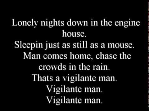 Nazareth - Vigilante man (lyrics)