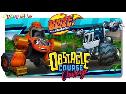 Blaze e as Monster Machines | Obstacle Course Challenge | FULL MOVIE Game | ZigZag Kids HD