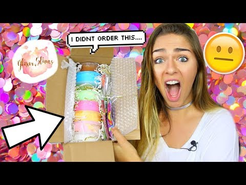 GLITTER.SLIMES SLIME PACKAGE REVIEW!!! $150 SLIME REVIEW!