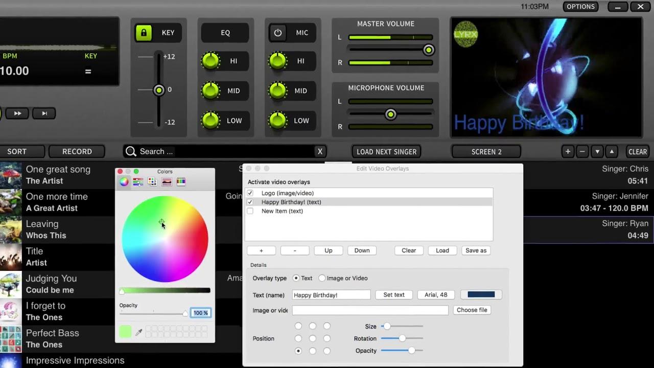 LYRX Karaoke Software For MAC Feature Spotlight | Text