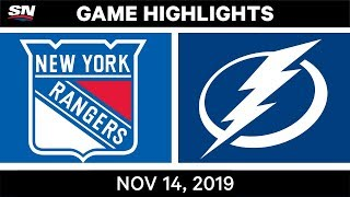 NHL Highlights | Rangers vs Lightning - Nov. 14, 2019