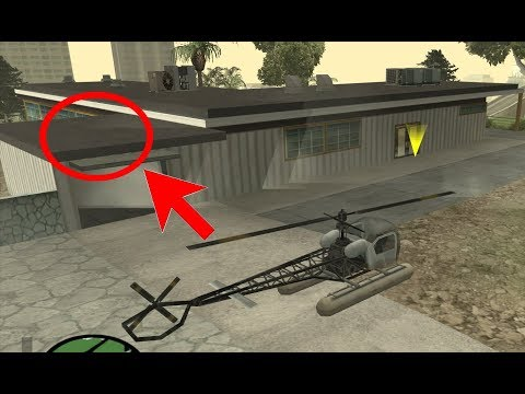 What Happens If CJ Parks A Helicopter On Top Of The Mulholland Safe House Garage? GTA San Andreas