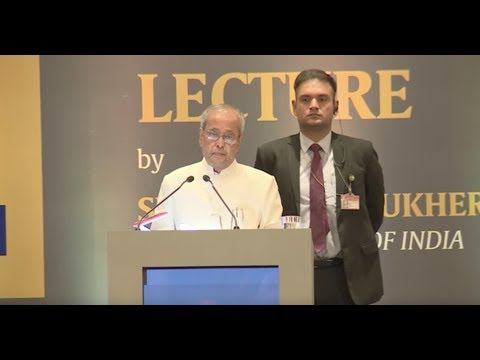 President Pranab Mukherjee Delivers The Second Ramnath Goenka Lecture