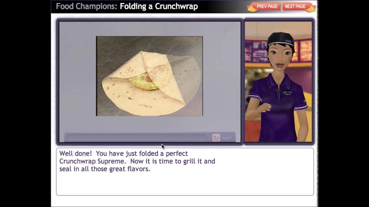 Taco Bell Folding A Crunchwrap Supreme Elearning Module Crunch Wrap Supreme Crunch Wrap Taco Bell