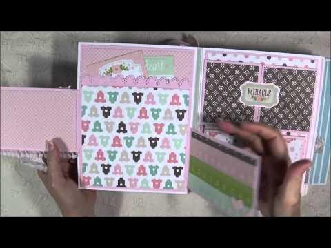 Baby Boy Mini Album and Part 1 Tutorial