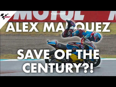 Watch Alex Márquez's insane save on wet Moto2 track