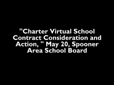 May 20 audio of Spooner School Board on  Charter Virtual School Contract