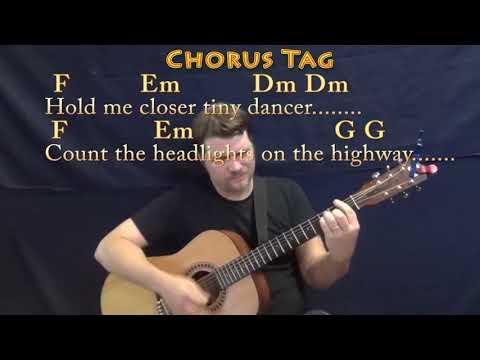 Tiny Dancer (Elton John) Guitar Cover Lesson with Chords/Lyrics ...