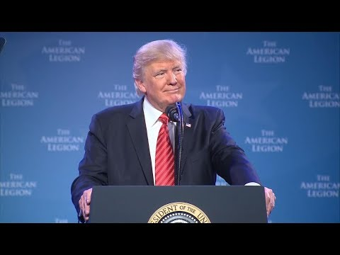 President Donald Trump delivers remarks to National Convention of the American Legion