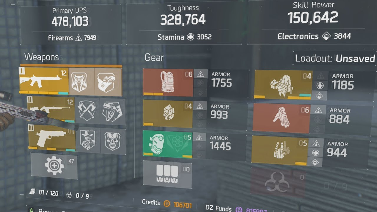 The Division The Ultimate Dark Zone Build Best Dps Toughness Skill Power Build Youtube