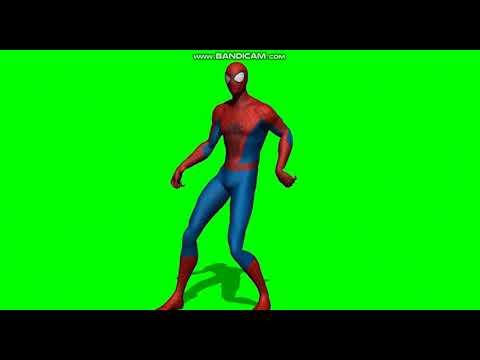 örümcek adam dans ediyour