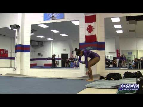 Floor Routines At International Gymnastics Meet Jan 12 2013