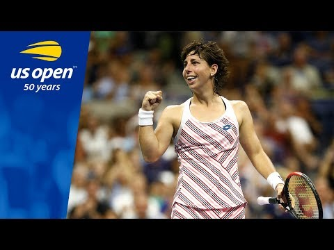 Carla Suarez Navarro's Breaks Maria Sharapova's US Open Night Winning Streak