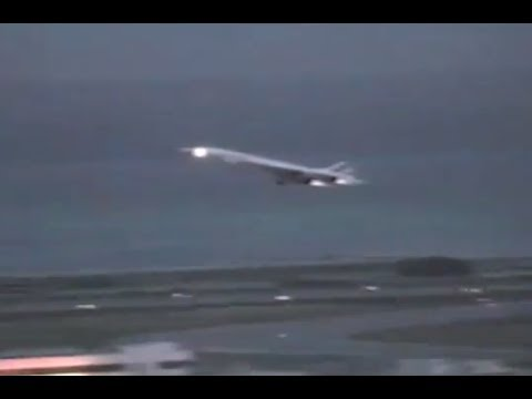 Concorde Air France take off from Nice
