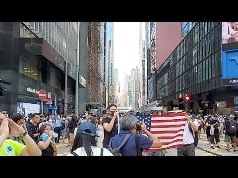《石涛聚焦》「香港中环再现抗议」港警突袭抓捕数十人中文大学学生会长向高法申请禁制令 阻止港警 下午5时开庭