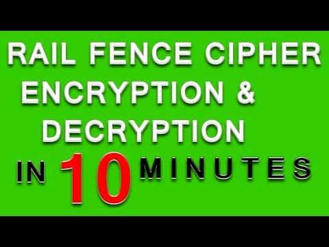 rail fence cipher   rail fence cipher encryption and decryption  rail fence cipher example solved