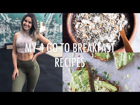 4 Quick & Healthy Breakfast Ideas/Recipes