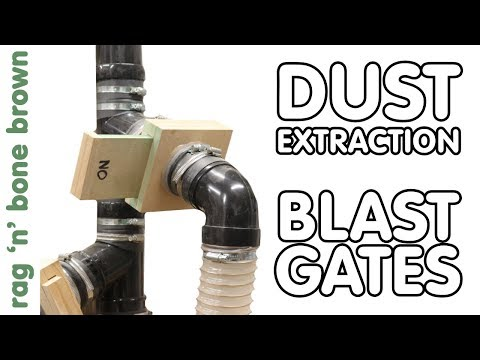 Making DIY Blast Gates For Dust Extraction