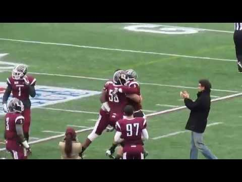 Tebucky Jones, Jr 97-yard Touchdown from Mike Nebrich - SHU vs Fordham Playoff Football - 11-29-14