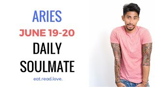 "ARIES SOULMATE ""INSEPARABLE "" JUNE 19-20  DAILY LOVE TAROT READING"