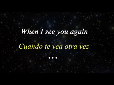 See You Again (LYRICS/SUBTITLE English-Spanish)