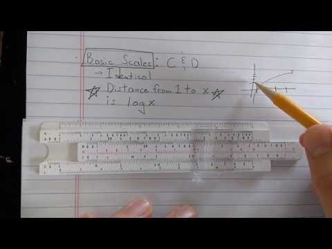 Basic slide rule theory and use (Part 1): C and D scales