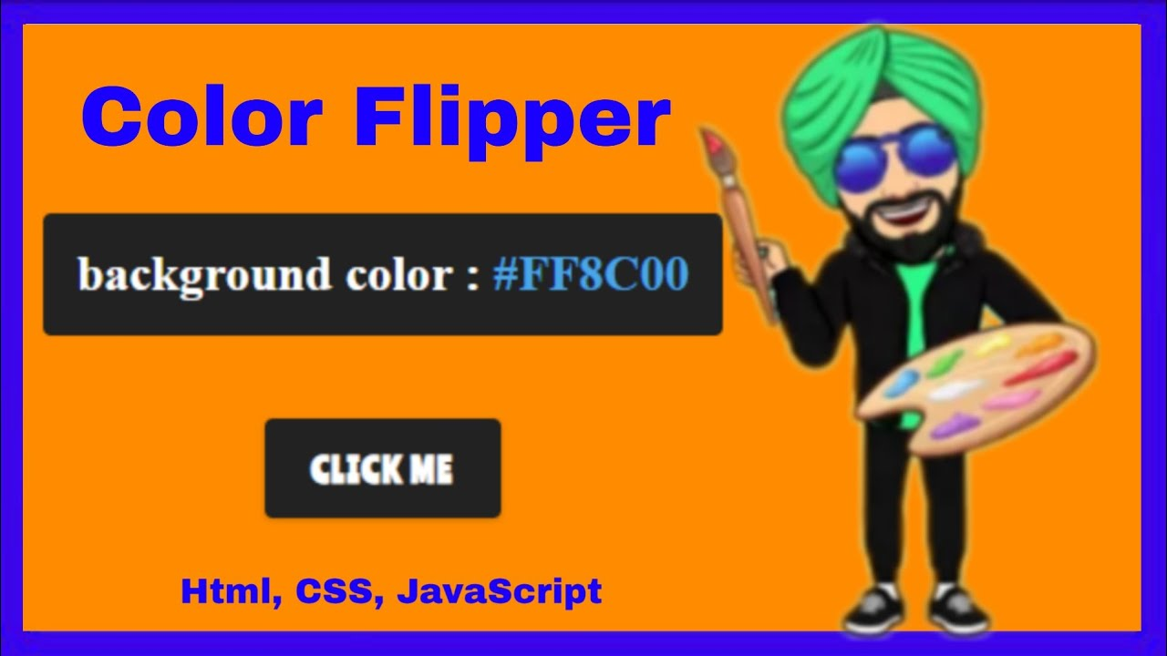 Color Flipper with Html, CSS, JavaScript    Color Changer   D.CoDeS  #code#coding#css#html