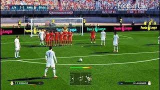 PES 2017 | Liverpool vs Real Madrid | C.Ronaldo Free Kick Goal & Full Match | Gameplay PC