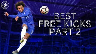 The Very Best Chelsea Free Kicks ft. Willian, Alonso & Lampard 🎯 | Part 2