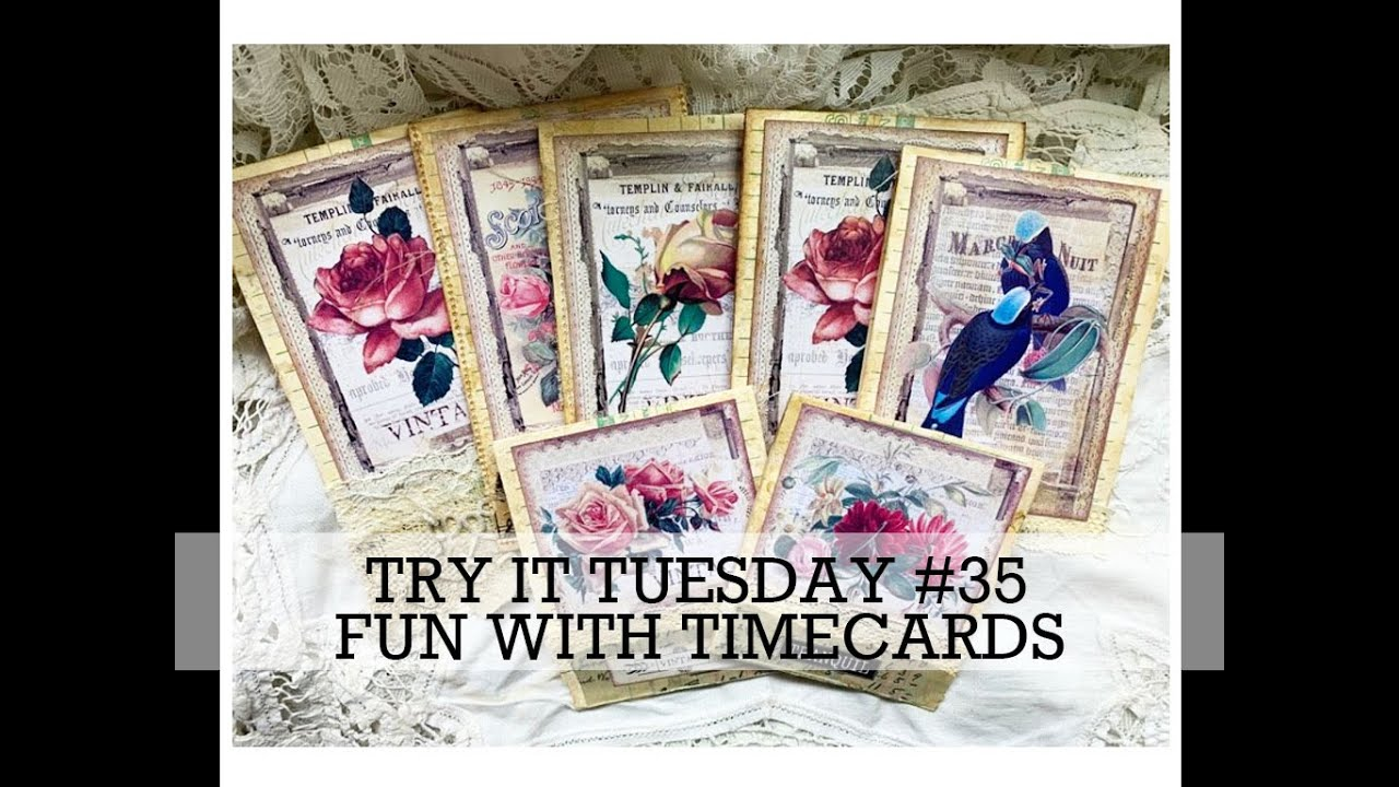 TRY IT TUESDAY #35  FB Challenge Artymaze (Time Cards)