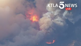 Lake Fire explodes in Angeles National Forest near Lake Hughes