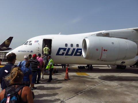 Cubana An-158 - Flight from Santo Domingo Las Americas Int'l (SDQ) to Santiago de Cuba (SCU)