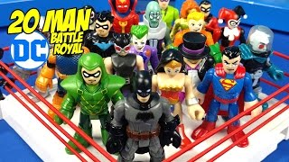 20 MAN Battle Royal with DC Superheroes and Batman Toys SHAKE RUMBLE LEAGUE